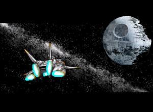 Orakio falou pra virar a esquerda da nebulosa de Andrômeda, a Gazeta deve ser pouco ali na frente perto daquela Lua...